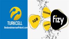 Turkcell Fizy ile 1 GB Aylık Bedava internet