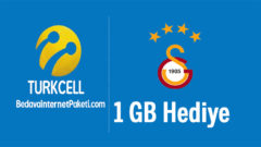 Turkcell'den Galatasaray 1 GB Hediye internet Kampanyası