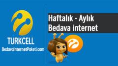Turkcell 2018 Haftalık – Aylık Bedava internet