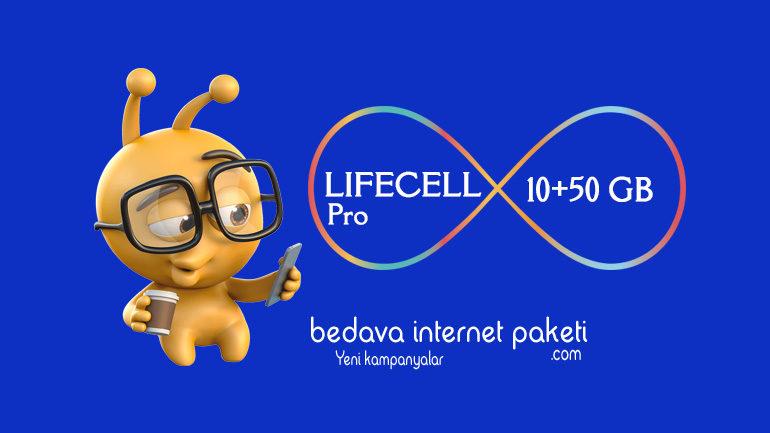 Turkcell Lifecell Pro Tarifesi 10+50 GB internet
