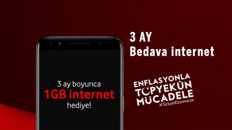 Vodafone Enflasyonla Mücadele 3 Ay 1 GB Hediye