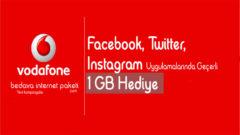 Vodafone Ev Kadınlarına Özel 1 GB Bedava internet