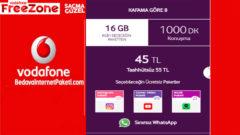 Vodafone Kafama Göre 8 Tarifesi – 16 GB internet