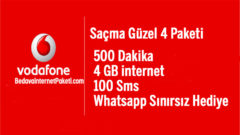Vodafone Saçma Güzel 4 Tarifesi – Whatsapp Bedava internet