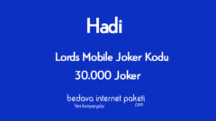 Hadi Joker Kodu – Lords Mobile