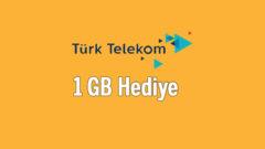 Türk Telekom Yeni Hediye: Herkese 1 GB internet Paketi