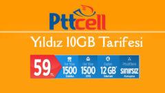 Pttcell Yıldız 10 GB Tarifesi – 2 GB Hediye internet