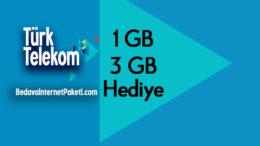 Türk Telekom Ev Telefonu Kullananlara: 3 GB Cepten Bedava internet