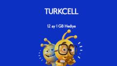 Turkcell Yeni Abone Her Ay 1 GB Bedava internet Hediyesi