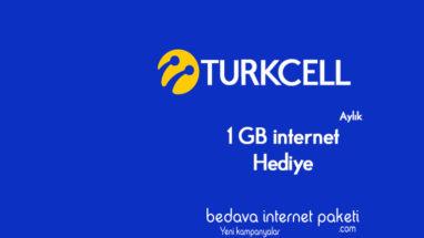 Turkcell Hazır Kart 4.5G BiP 1 GB Aylık internet Hediyesi