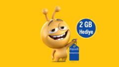 Turkcell Paycell Kart 6 Ay 2 GB Bedava internet
