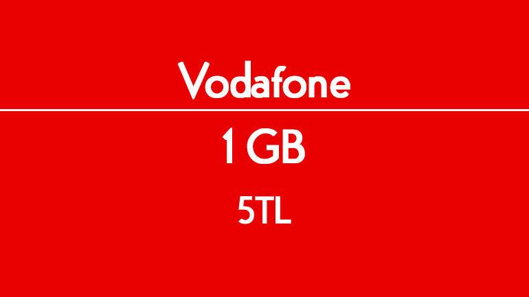 Vodafone Faturasız Uygun Fiyata – Ucuz Aylık 1 GB internet 5 TL