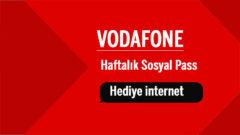 Vodafone 30 TL Yükle Haftalık Sosyal Pass internet Kazan