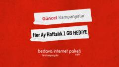 Vodafone LOL Her Ay Haftalık 1 GB Hediye internet Fırsatı