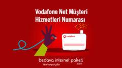 Vodafone Net SüperNet internet Müşteri Hizmetleri Numarası