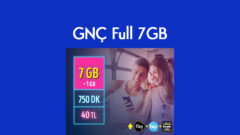 Turkcell Yeni Abone 7 GB Tarifesi + Her ay 1 GB Hediye