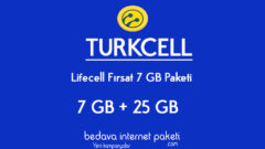 Turkcell Yeni Lifecell Fırsat 7 GB + 25 GB Tarifesi