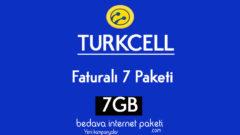 Turkcell Faturalı 7 Tarifesi – 7 GB internet