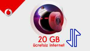 Vodafone Sokakta 20 GB Bedava internet Topla