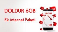 Vodafone DOLDUR 6 GB Ek internet