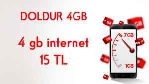 Vodafone Doldur 4 GB Paketi