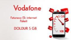 Vodafone Doldur 5 GB internet Paketi