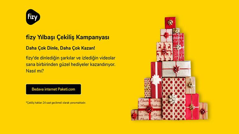 Turkcell fizy Yılbaşı Çekiliş Kampanyası