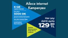 Ailece internet Türk Telekom Mobil 6 GB + 15 GB internet Kampanyası