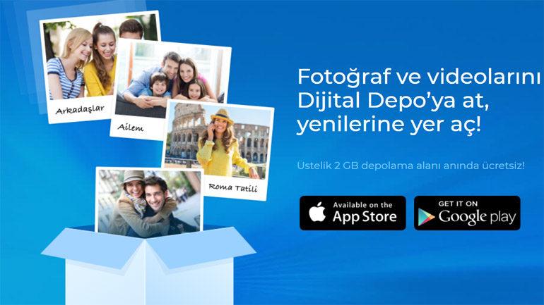 Dijital Depo Uygulaması Türk Telekom ile Yedekle 2 GB Hediye