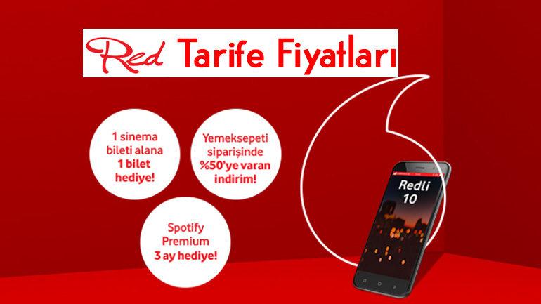 Vodafone Red Tarife Paketi Fiyatları