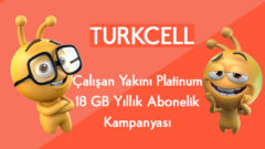 Turkcell Çalışan Yakını Platinum 18 GB Yıllık Abonelik Kampanyası