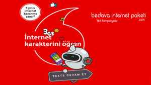 Seviyorum interneti Vodafone 3 GB Bedava internet Fırsatı