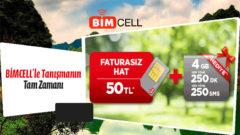 Bimcell Yeni Hat Kampanyası 2019 – 4 GB, 250 Dakika, 250 SMS Hediye
