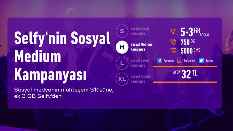 Türk Telekom Sosyal Medium Tarifesi – 5 GB + 3 GB  internet