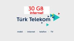 Türk Telekom Kontrol Sizde Tarifesi 30 GB internet
