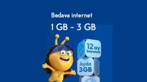 Turkcell Yeni Abone Ayda 1 GB – 3 GB Bedava internet Hediyesi