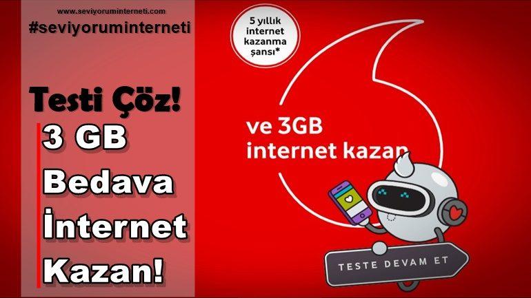 Vodafone 3 GB Bedava İnternet Kazan!