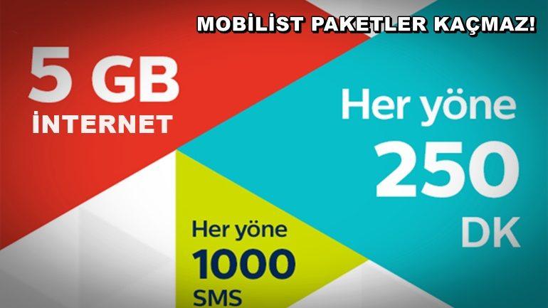 Türk Telekom Mobilist 5GB İnternet Paketi