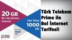 Prime Eksper 20 ile 3 Ay Bedava İnternet Türk Telekom da