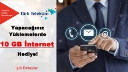 10 GB Bedava İnternet Türk Telekom Yükleme Şenliği Kampanyası