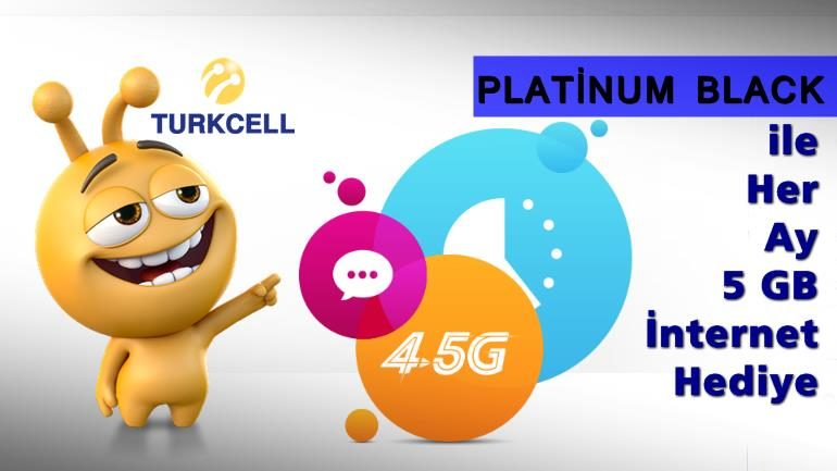 Turkcell Platinum Black ile Her Ay 5 GB Bedava İnternet