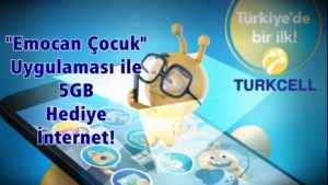 Hologramlı Emocan Çocuk ile Turkcell 5 GB Hediye İnternet