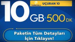 Uçuran 10 GB İnternet Paketi Turkcell