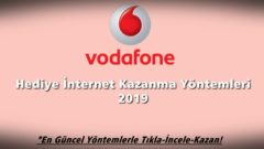 Vodafone Hediye İnternet 2019